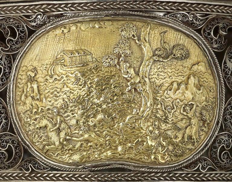 16th Century Silver German Filigree Toilet Box For Sale