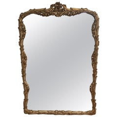 Silver Gilt Carved Wood Framed Mirror