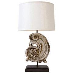 Silver Gilt Carved Wooden Fragment Lamp