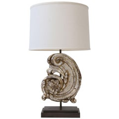 Silver Gilt Carved Wooden Fragment Lamp