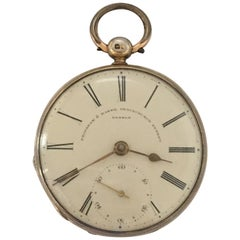 Silver Gilt English Lever Fusee Pocket Watch by Frodsham, London, circa 1840