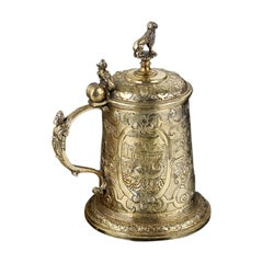 Silver Gilt Renaissance Tankard, German, circa 1600