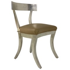 Silver Gilt Side Chair Style of Robsjohn-Gibbings