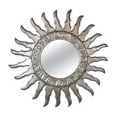 Silver Gilt Sunburst Mirror, circa 1930s