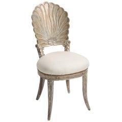 Silver Gilt Venetian Scallop Shell Side Chair