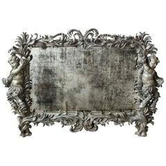 Silver-Gilt Wall Mirror