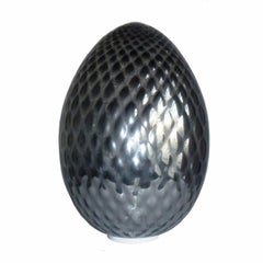 Silver Glass Egg Lamp, Italy, 2000s
