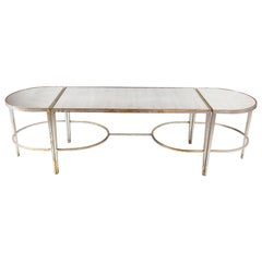 Silver & Gold Mirrored Cocktail Table 3 Pieces