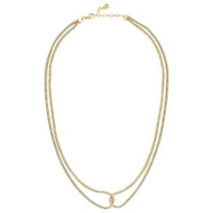 Silver Gold-Plated Necklace Minimal Short Double Snake Chain Greek Jewelry