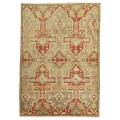 Silver Gray Antique Turkish Rug