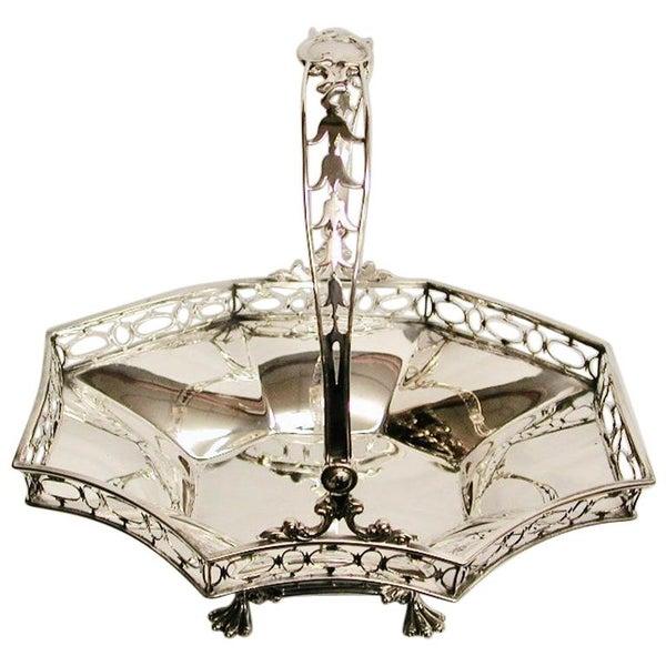 Silver Hand Pierced Sweet Basket, George Fox, 1901, London