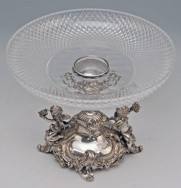 Silver Historicism Pair of Centrepieces by Bruckmann and Sons, Germany For Sale 1