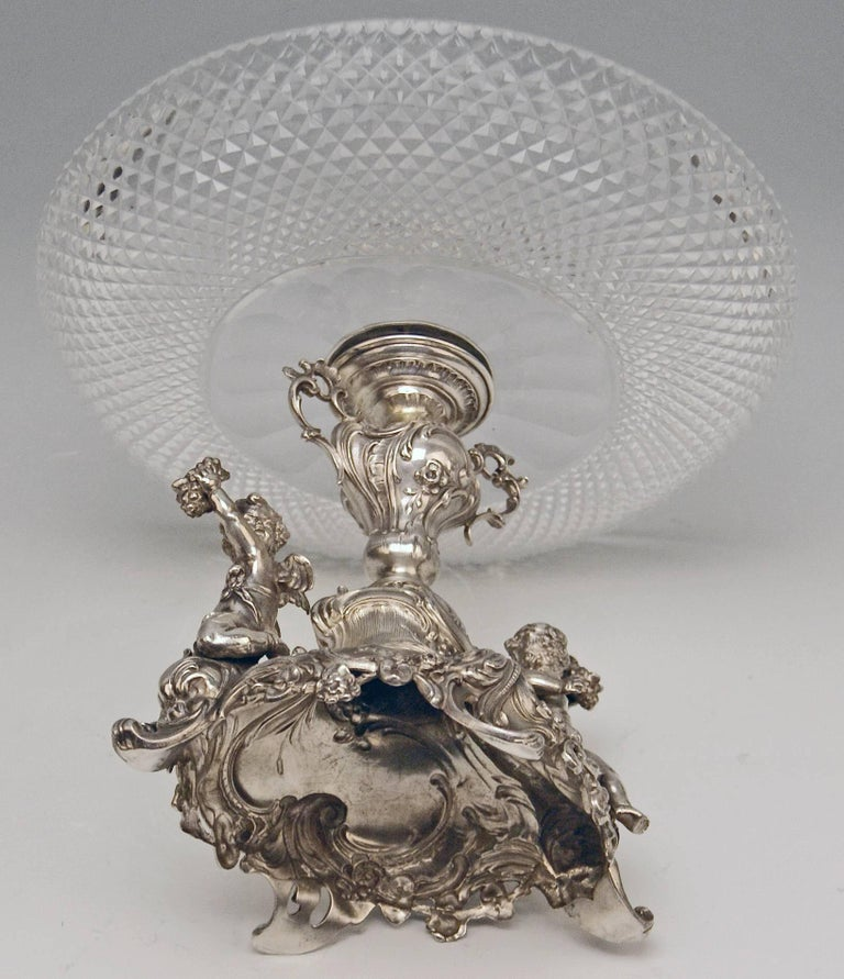 Silver Historicism Pair of Centrepieces by Bruckmann and Sons, Germany For Sale 2