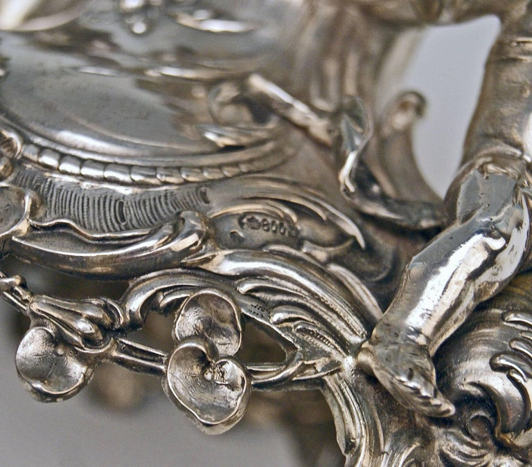 Silver Historicism Pair of Centrepieces by Bruckmann and Sons, Germany For Sale 3
