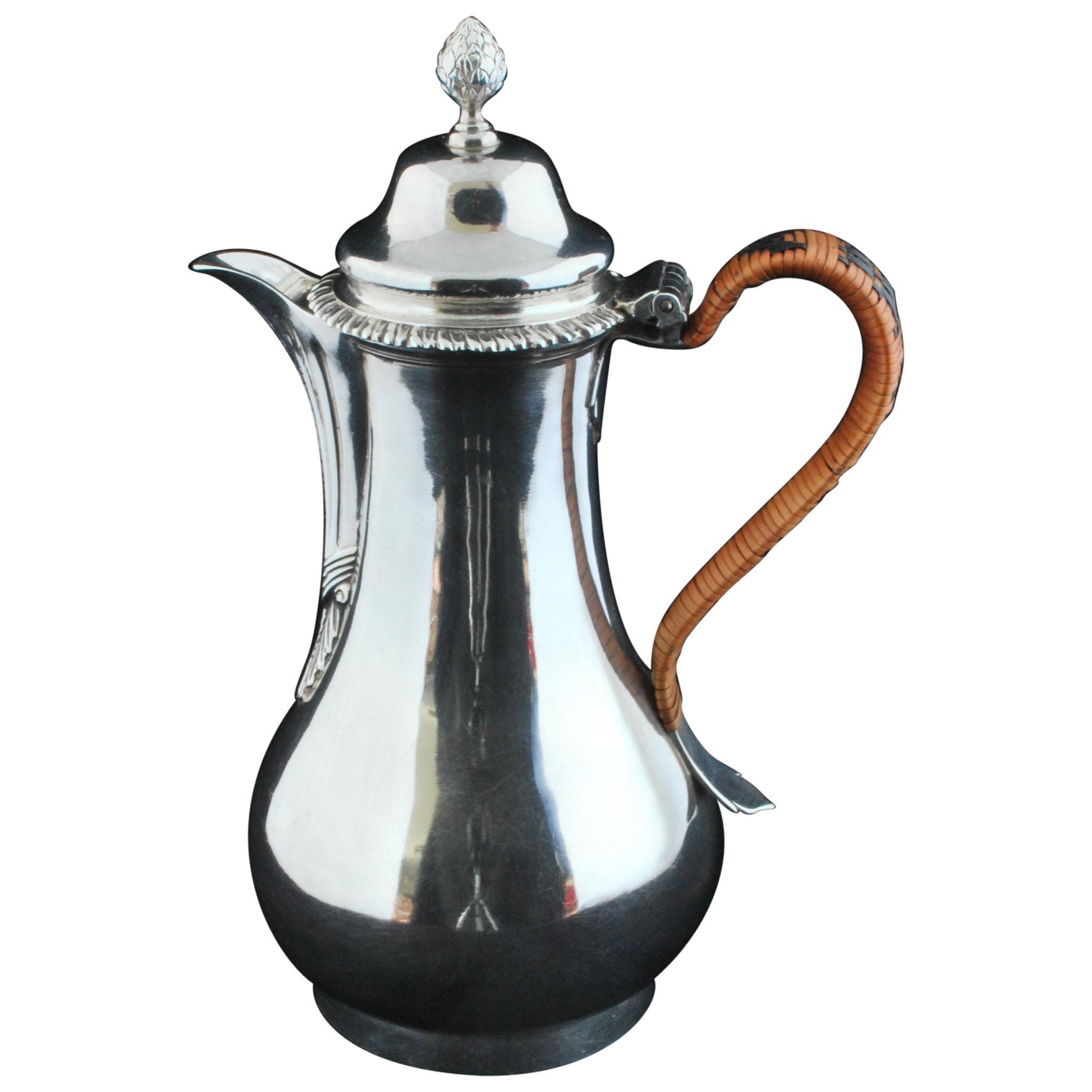 Silver Hot Water Jug, circa 1767
