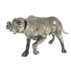 Silver Hound Bracco Sculpture