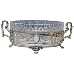 Silver Huge Flower Bowl Centrepiece Germany Made circa 1900
