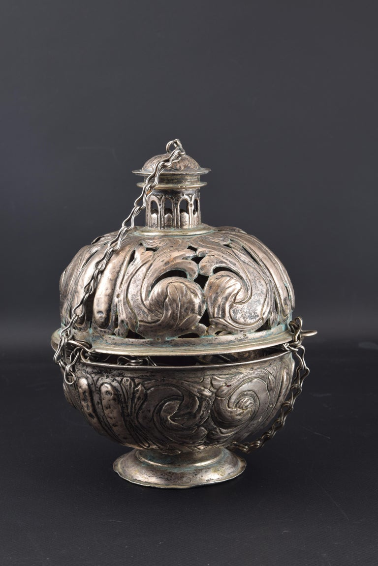 Silver Incense Burner, Spain, 17th Century For Sale 4