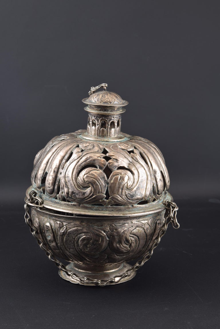 Silver Incense Burner, Spain, 17th Century For Sale 5