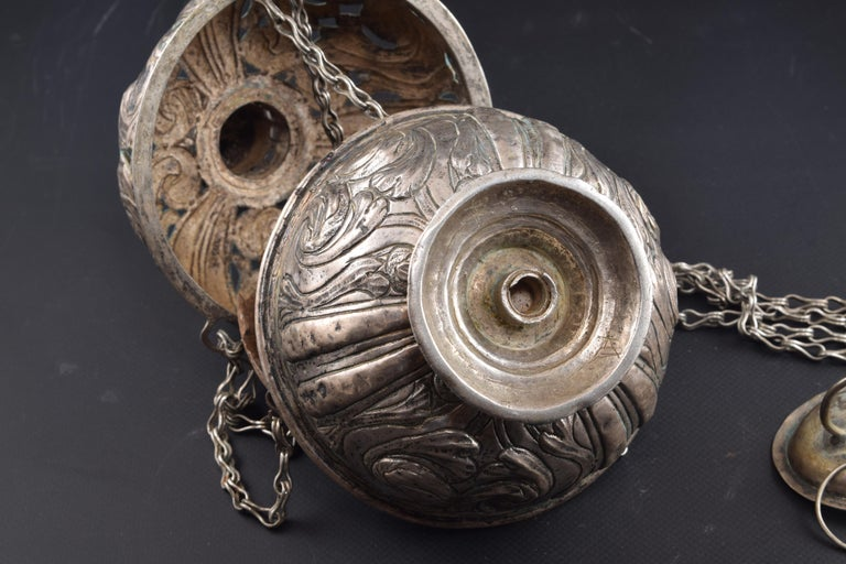 Silver Incense Burner, Spain, 17th Century For Sale 7