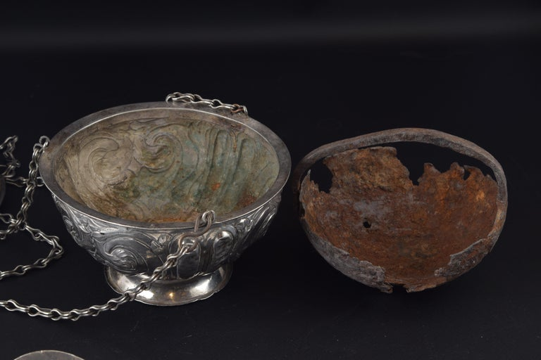 Silver Incense Burner, Spain, 17th Century In Good Condition For Sale In Madrid, ES