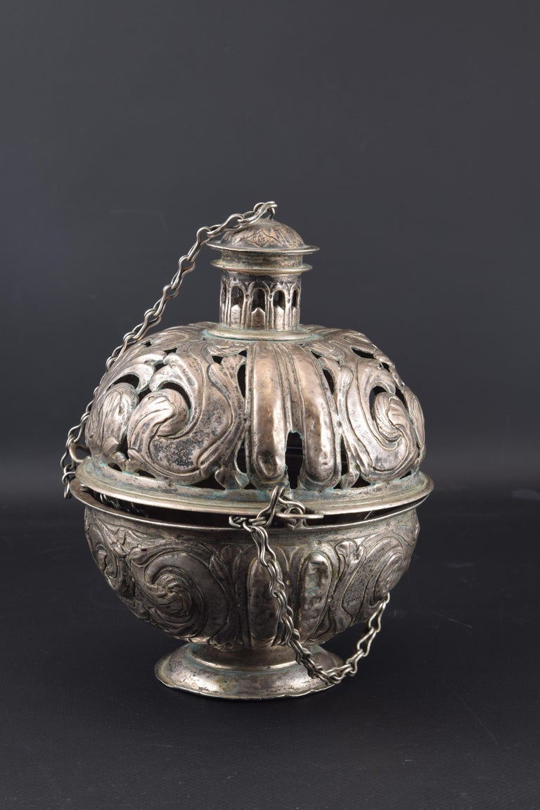 Silver Incense Burner, Spain, 17th Century For Sale 1
