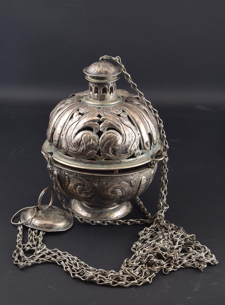 Silver Incense Burner, Spain, 17th Century For Sale 2
