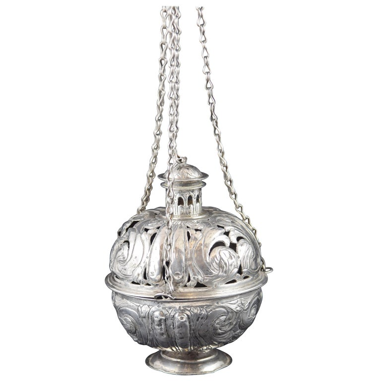 Silver Incense Burner, Spain, 17th Century For Sale