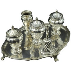 Silver Inkstand, with Hallmarks, Madrid, Spain, 1779