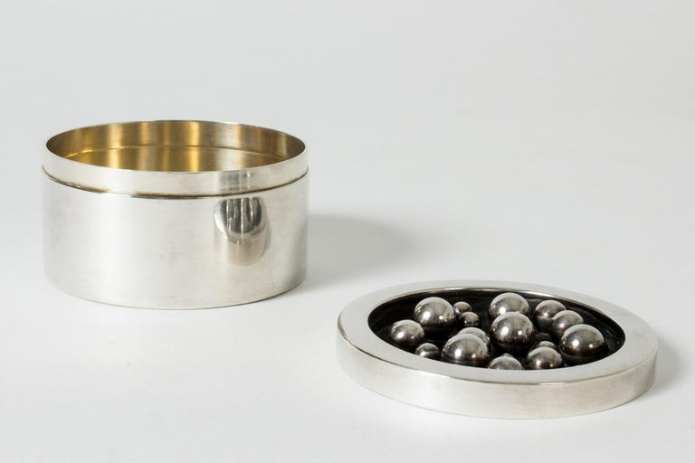 Swedish Silver Jar from Atelier Borgila For Sale