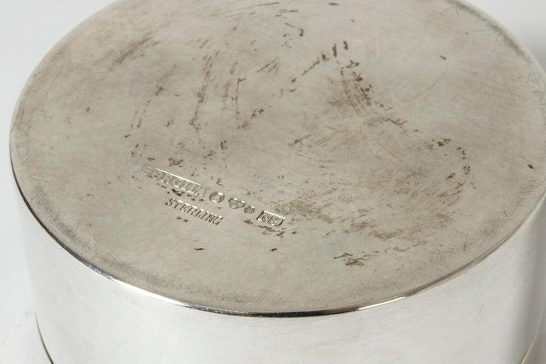Mid-20th Century Silver Jar from Atelier Borgila For Sale