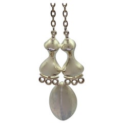 Silver Jorma Laine Turun Hopea 1973 Abstract Necklace