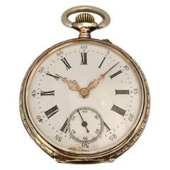 Silver Key-Less Antique Pocket Watch