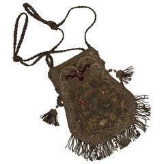 Silver Knitted Handbag, 18th Century