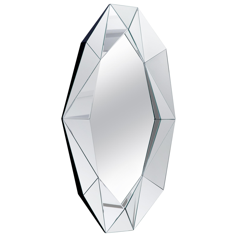 Silver Large Diamond Decorative Mirror