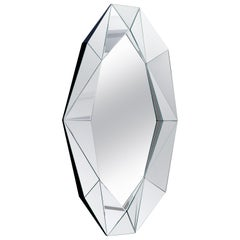 Silver Large Diamond Decorative Mirror