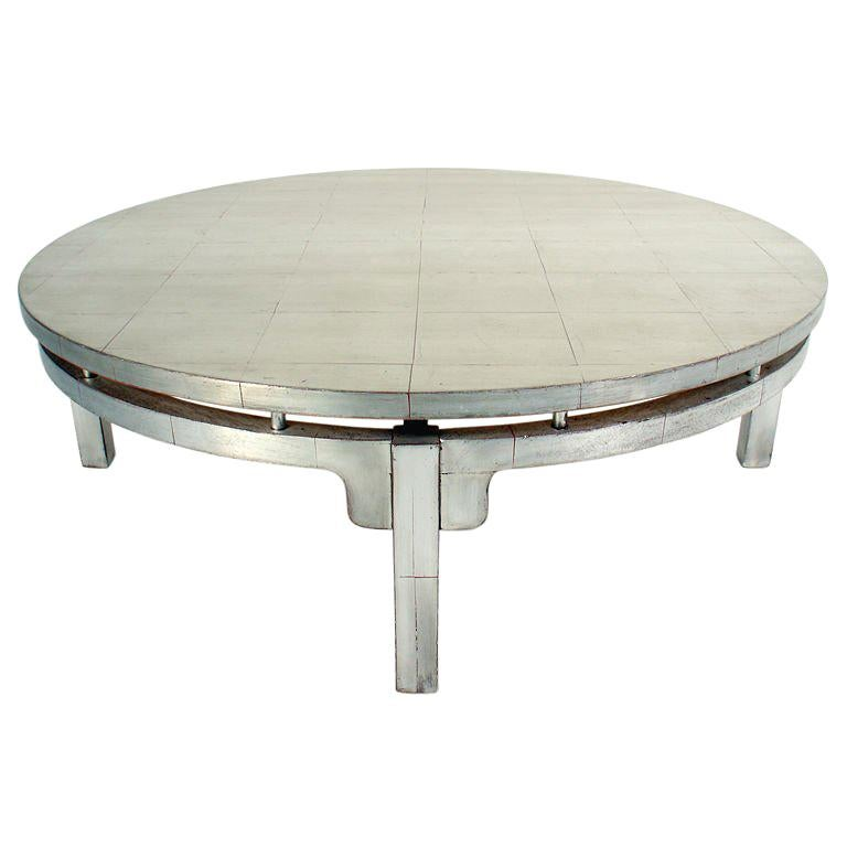 Silver Leaf Asian Form Coffee Table