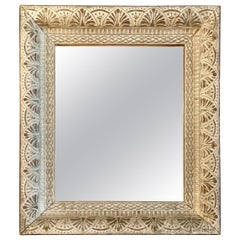 Silver Leaf Framed Mirror, France, 1940s