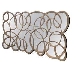 Silver Leaf Full Length Decorative Mirror, Curved 'Tordu' by Christopher Guy