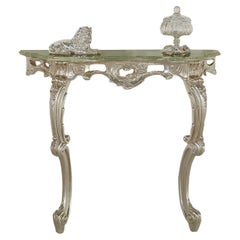 Silver-Leaf Leaning Console Table by Modenese Interiors