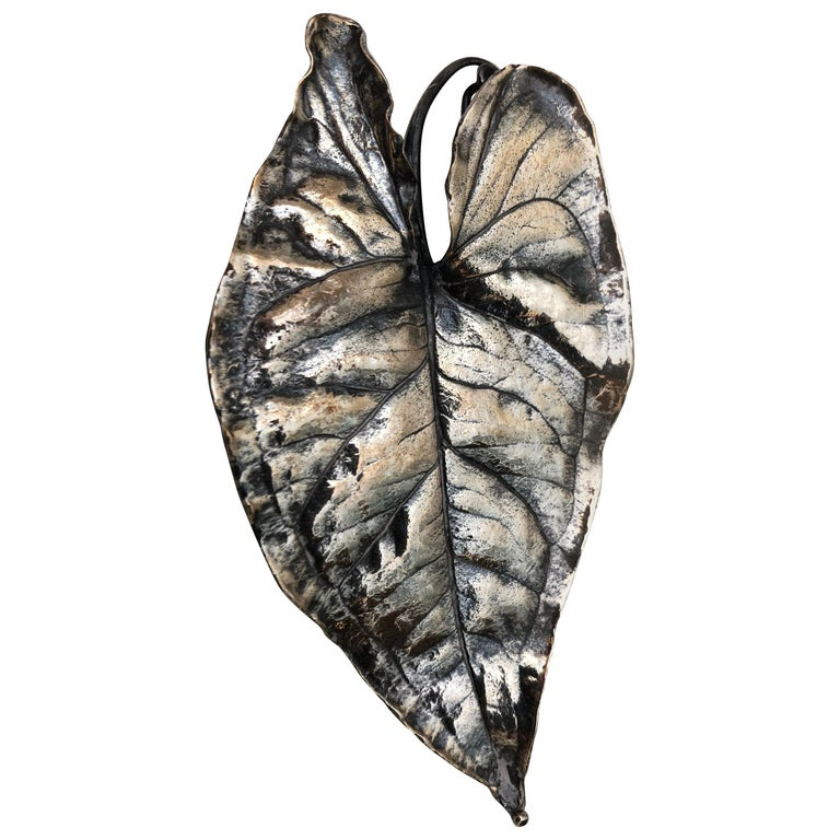 Silver Leaf Pin For Sale