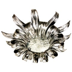 Silver Leaf Sunburst Light Fixture