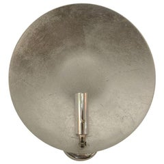 Round Silver Leaf Wall Sconce by Catellani & Smith