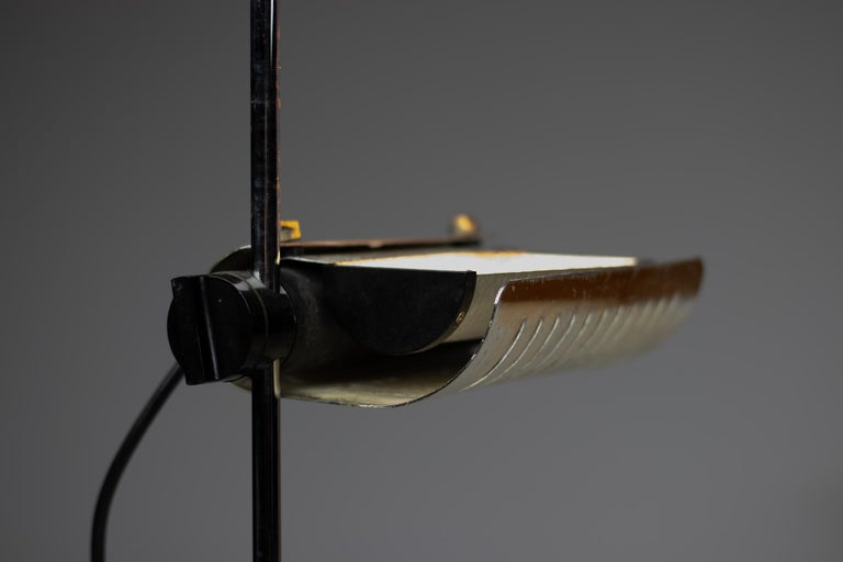 Silver Limited Edition Joe Colombo for O-Luce 626 Floor Lamp For Sale 3
