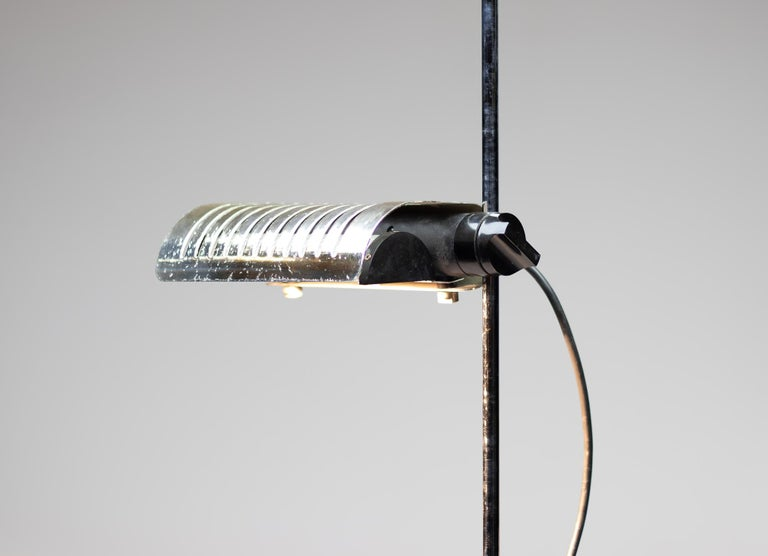 Plated Silver Limited Edition Joe Colombo for O-Luce 626 Floor Lamp For Sale