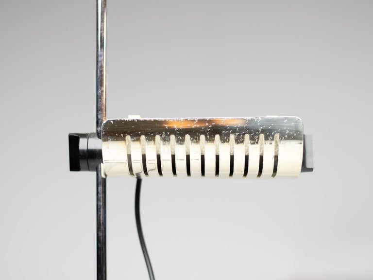 Silver Limited Edition Joe Colombo for O-Luce 626 Floor Lamp In Good Condition For Sale In Dronten, NL