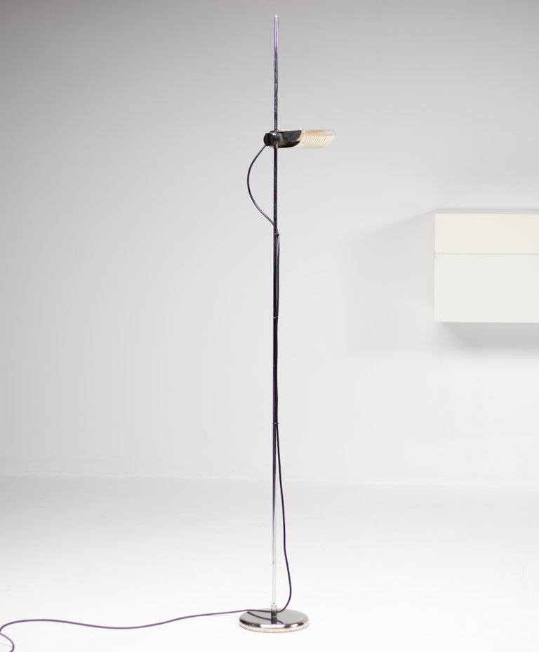 Silver Limited Edition Joe Colombo for O-Luce 626 Floor Lamp For Sale 1