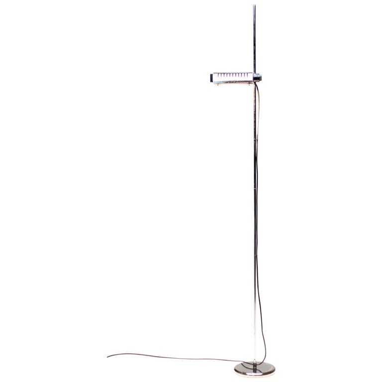 Silver Limited Edition Joe Colombo for O-Luce 626 Floor Lamp For Sale