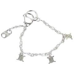 Silver Macdam Logo Charm Bracelet 11cej921 Necklace