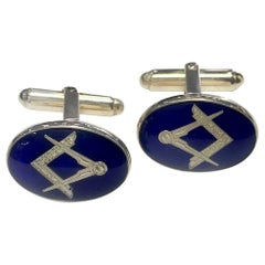 Silver Masonic Hinged Cufflinks